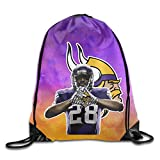 Show Time Running Back #28 AP Backpack Gymsack Drawstring Shoulder Bags