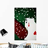 Wallmonkeys Casino Game Poker Wall Decal Peel and Stick Graphic WM3246 (36 in H x 24 in W)