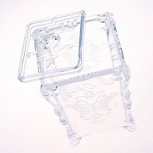 frcolor Kosmetik Container Box Acryl-Organizer f/ür BASTONCILLO Baumwolle Schwarz