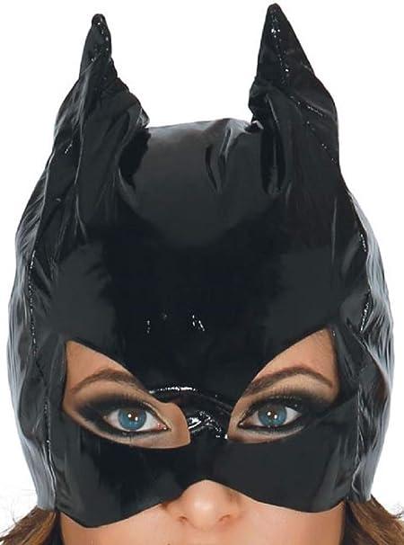 Guirca Fiestas Máscara de gato de vinilo para mujer Disfraz de ...