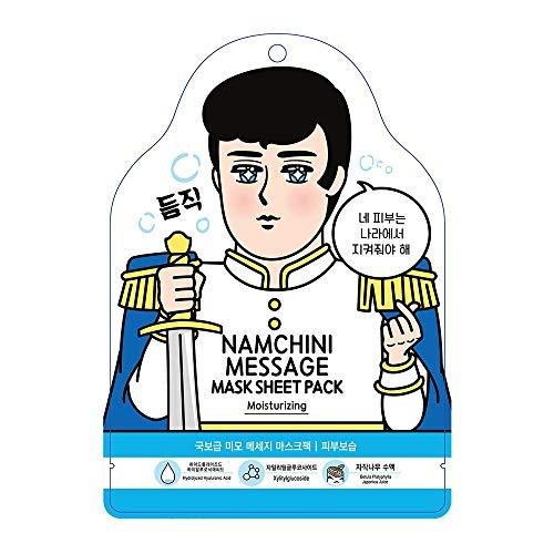 NAMCHINI Korean Face Mask Sheet Set   Pack of 5, Hydrating Facial Skin Care Pack - (TREASURE)