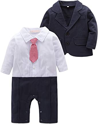Abolai Baby Boys 5-Pack Rompers