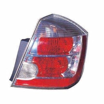 Fits 2007-2009 Nissan Sentra 2.0L Chrome Passenger Right Rear Lamp Tail Light