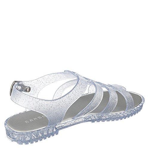 Sandalo Abord-01 Di Bambù Trasparente / Glitterato