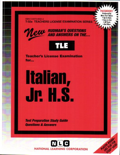 Teacher of Italian: Junior High School (Teachers License Examination Series)(Passbooks)