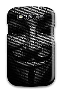 Premium Galaxy S3 Case - Protective Skin - High Quality For Attractive Miscellaneous Digital Art Anonymous