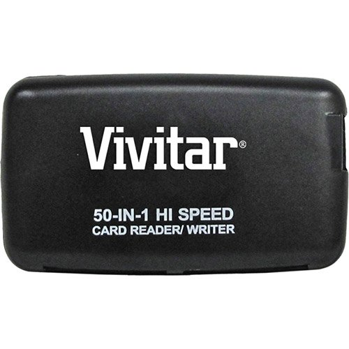 Vivitar 50-In-1 Plug & Play Memory Card Reader/Writer + 2-Po