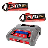 Venom 50W Dual Output AC/DC 6 amp 3S LiPo RC Battery Balance Charger and 2 Pack Venom Fly 30C 3S 2200mAh 111V LiPo Battery with Flyzone Super Tigre Plug Combo