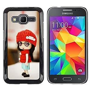 TopCaseStore / la caja del caucho duro de la cubierta de protección de la piel - Cute Toy Girl - Samsung Galaxy Core Prime SM-G360