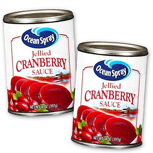 Ocean Spray Cranberry Sauce Value Pack -- 2 Cans (28 Oz Total, Jellied Cranberry Sauce) ()