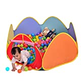 Truedays® 49.2''x 21.6'' Pop up Play Tent Playpen Ball Pit with Convenient Compact Case & Indoor or Outdoor, Ball Not Include