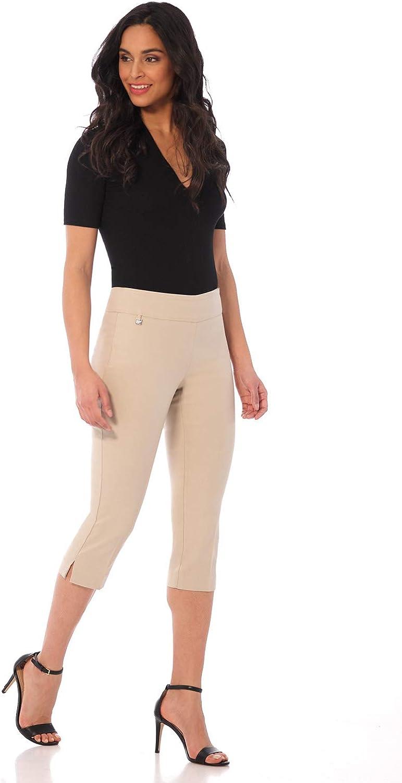 Rekucci para Mujer Pantalón Capri Pata Recta Cómoda con Control de Barriga y Bolcillo Secreto.