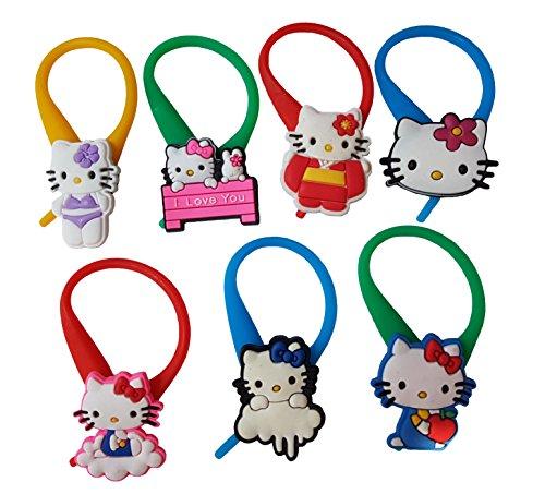 AVIRGO 7 pcs Colorful Soft Zipper Pull Charms for Jacket Backpack Bag Pendant Set # 125 - (Maru The Cat Costume)