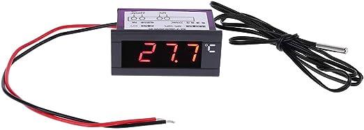 FangWWW Termómetro digital integrado para refrigerador, congelador ...