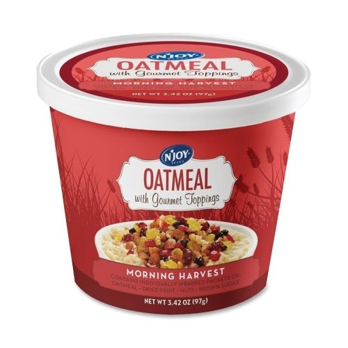 Sugar Foods Corp SUG40772 Oatmeal Cup, Individually Wrapped, Morning Harvest, 8-CT