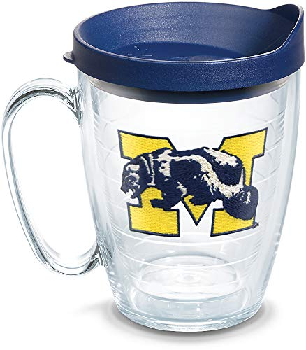Tervis 1136064 Michigan Wolverines College Vault Logo Tumbler with Emblem and Navy Lid 16oz Mug, ()