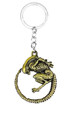 Amazon.com: Alien vs Predator Xenomorph Alien llavero de ...