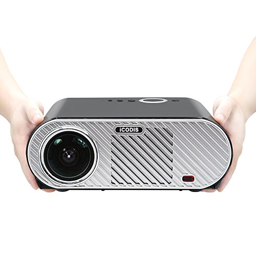 iCODIS G6 Video Projector, 3200 Lumens LCD, Multimedia Home Theater Digital Projector, Supports 1080P, 3000:1 Contrast Home Entertainment Projector