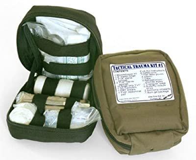 Fully Stocked MOLLE Tactical Trauma Kit First Aid Pouch from Elite First Aid