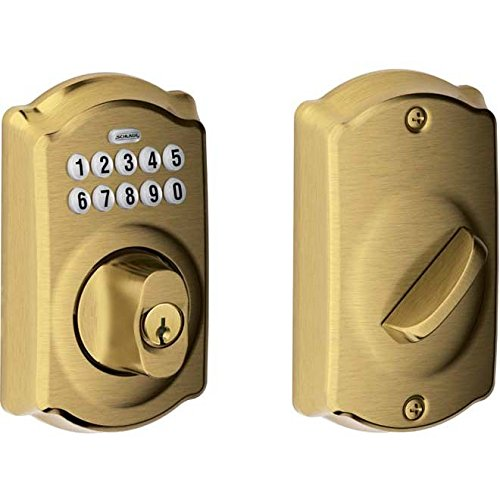 Schlage BE365CAM609 Series w Camelot Rose Keypad Deadbolt by Schlage Lock Company