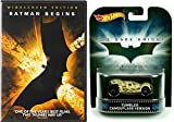 Batman Begins with Hot Wheels Retro Entertainment Dark Knight Trilogy Tumbler Camouflage Version 1:64 Diecast Car Bundle