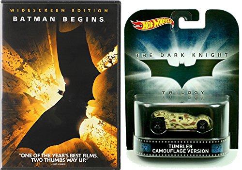 Batman Begins with Hot Wheels Retro Entertainment Dark Knight Trilogy Tumbler Camouflage Version 1:64 Diecast Car Bundle