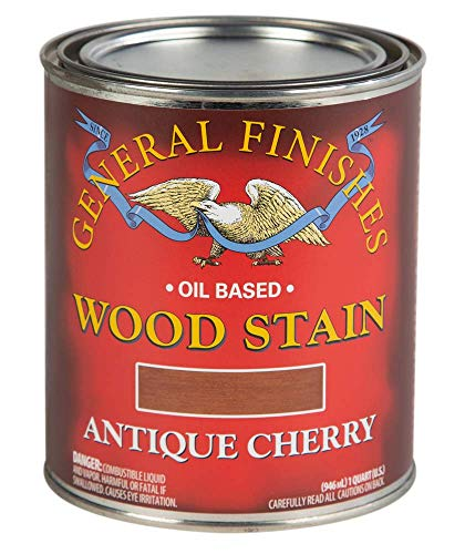 General Finishes Oil Based Penetrating Wood Stain, 1 Quart, Antique Cherry