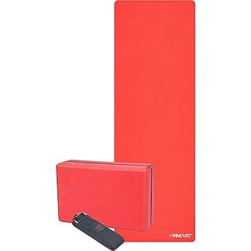Avento Set de Yoga 3 Piezas Lotus Rojo Accesorios Gimnasio ...