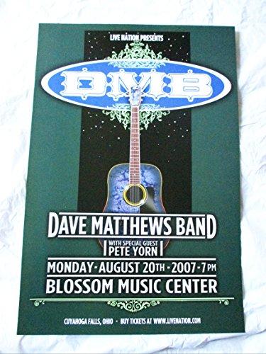 - 2007 Dave Matthews Band Concert Poster Pete Yorn Ohio