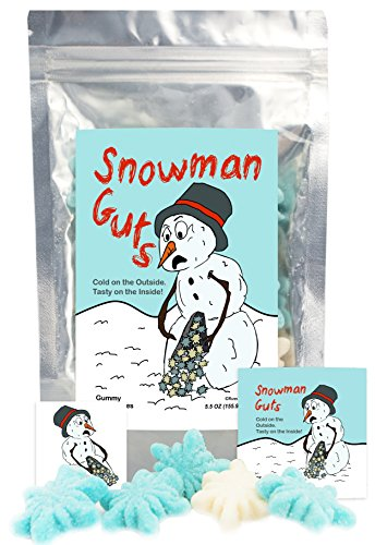 Snowman Guts - Gummi Snowflakes - Funny Unique Christmas Stocking Stuffer Gag Gift for Teens, Girls, Boys and Kids