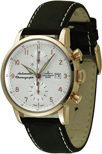 Zeno-Watch Mens Watch - Magellano Chronograph Bicompax 18ct gold - 6069BVD-GG-f2