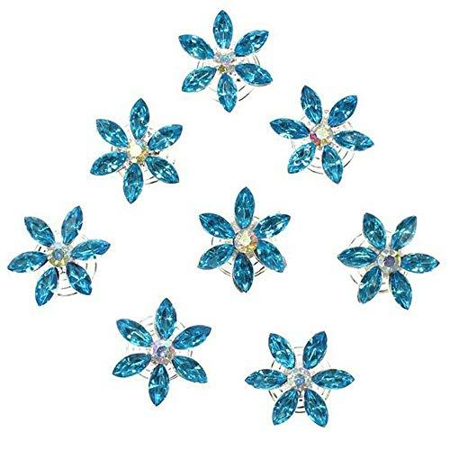 Hair Accessories Crystal Bridal Headdress Spiral Clip Hairpin Diamond Flower