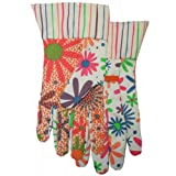 MIDWEST QUALITY GLOVES Women's Canvas Dot Gardening Gloves