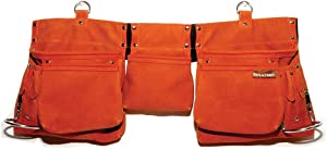 ReplaceMint Tool Belt for Women - Waist Bag for Construction, Carpentry, Gardening, Cleaning, Makeup, Handyman Work - Utility Pouch with Pockets & Loops - Suede-Like Material - Dark Burnt Orange