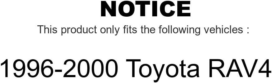 Front Rear Disc Brake Rotors Semi-Metallic Pads And Drum Kit For 1996-2000 Toyota RAV4 7Pc