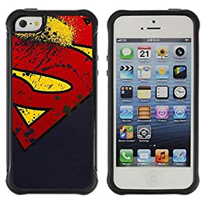 SHIMIN CAO@ GRUNGE S SUPERHERO Rugged Hybrid Armor Slim Protection Case Cover Shell For iphone 5S CASE Cover ,iphone 5 5S case,iphone5S plus cover ,Cases for iphone 5 5S