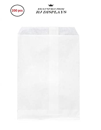 Amazon.com: 200 en bolsas de papel kraft blanco, 4 x 6 ...