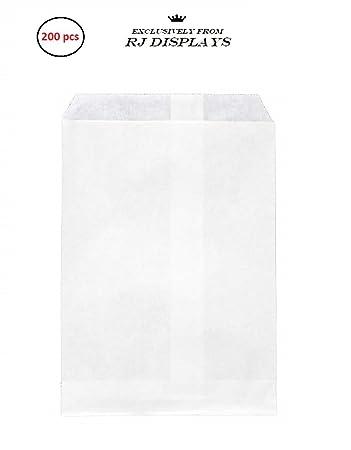 Amazon.com: 200 en bolsas de papel kraft blanco, 4 x 6 ...