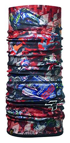 Buff Men's Polar Neckwear, Moto Gp Racing Red/Black, Adult/One Size
