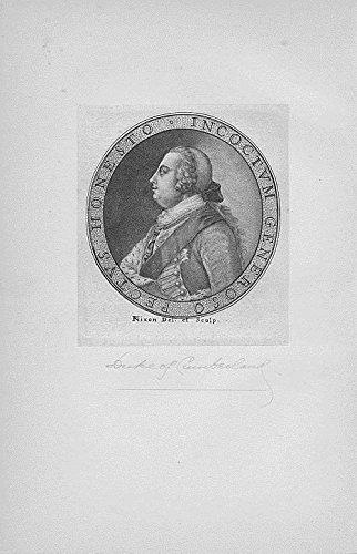 Duke of Cumberland original antique c.1820 engraved portrait print