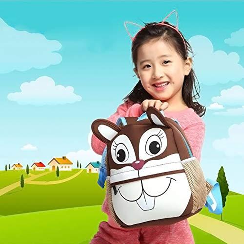 pour Bag Cartoon Animal Sac Squirrel 3D d'école Sac Piggy à Dos Xuniu Maternelle tOvwA