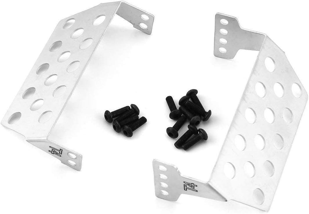 Heaviesk 2 Piezas Trasera Delantera chasis de Acero Inoxidable Placa Protectora Placa Protector para RC Crawler RC Todoterreno Modelo de Coche