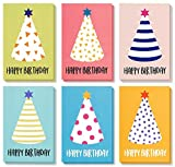 Best Paper Greetings Birthday Card - 48-Pack Birthday Cards Box Set, Happy Birthday Cards - Party Hats Designs Birthday Card Bulk, Envelopes Included, 4 x 6 Inches