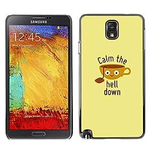 TopCaseStore / la caja del caucho duro de la cubierta de protección de la piel - Quote Motivational Poster Beige - Samsung Galaxy Note 3 N9000 N9002 N9005