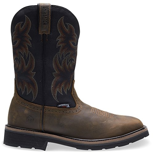 Wolverine Rancher Waterproof Steel-Toe Wellington Men 8 - Black