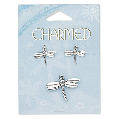 Focal and charm antique silver-finished