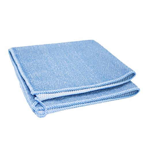 Heavy Duty Multi Purpose Dual Sided MojaFiber Microfiber Cleaning Cloths (2 Pack) by MojaWorks