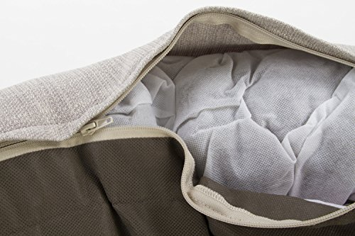 Sterling Premium Cooling Gel Memory Foam Pet Bed, Plush with Woven Linen, Beige by Sterling (Image #5)
