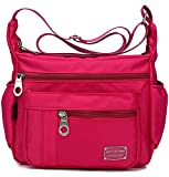 Kecartu Women`s Lightweight Water Resistant Nylon Crossbody Shoulder Bag Medium Size Purse