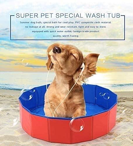 (; 20CM 80 keer Maat:: M); zomer Portable Opvouwbaar, PVC huisdier Pool, kinderen rsquo Puppy Swimming bad s badkuip, schoon zwembad ZHNGHENG (Size : S: 60 × 20CM)